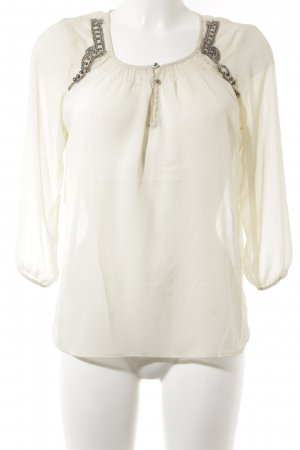 Vero Moda Langarm-Bluse hellbeige Casual-Look