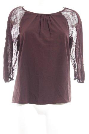 Vero Moda Langarm-Bluse purpur Casual-Look