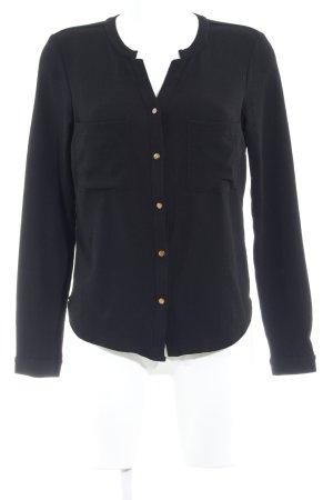 Vero Moda Langarm-Bluse schwarz Casual-Look