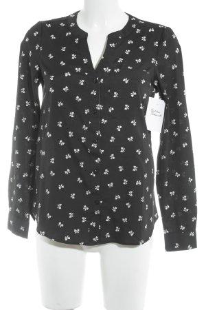 Vero Moda Langarm-Bluse schwarz-weiß Motivdruck Casual-Look
