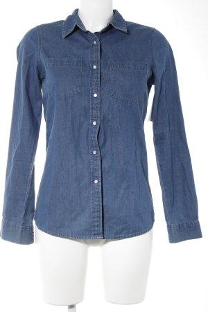 Vero Moda Langarm-Bluse stahlblau Casual-Look
