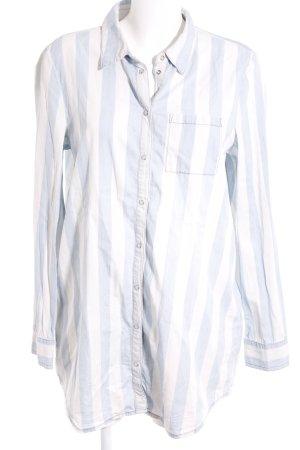 Vero Moda Langarmhemd weiß-himmelblau Streifenmuster Casual-Look