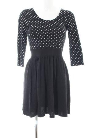 Vero Moda Langarmkleid schwarz-weiß Punktemuster Business-Look