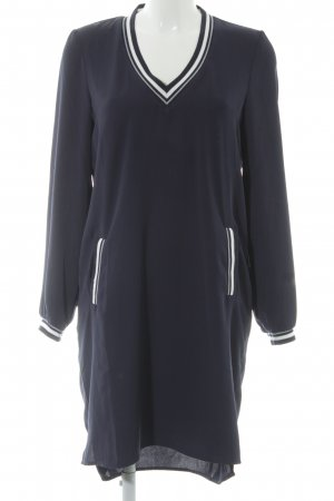 Vero Moda Langarmkleid dunkelblau-weiß schlichter Stil