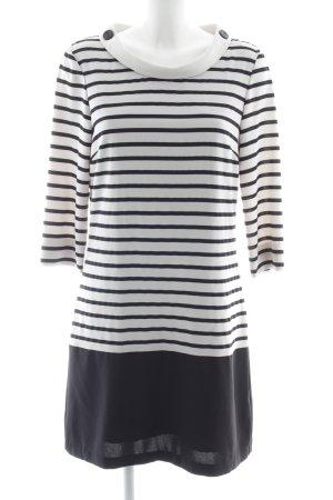 Vero Moda Langarmkleid schwarz-weiß Streifenmuster Casual-Look