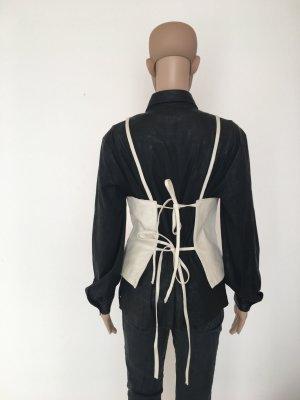 Vero moda  leather Leder l large offwhite glänzend hinten zum schnüren weich Leder Luxus Design musthave