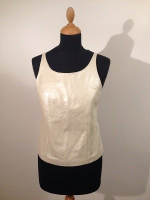Vero Moda Backless Top natural white leather
