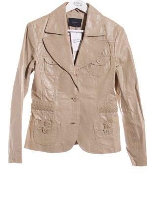 Vero Moda Leder-Blazer beige Casual-Look