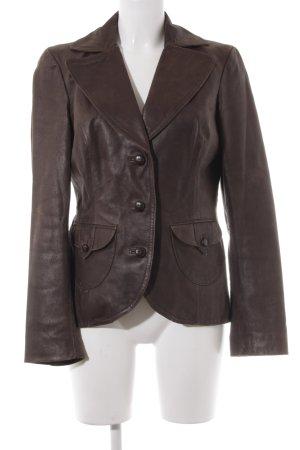Vero Moda Blazer de cuero marrón estilo extravagante