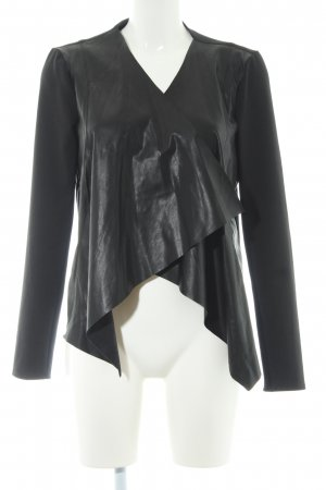 Vero Moda Blazer in pelle nero