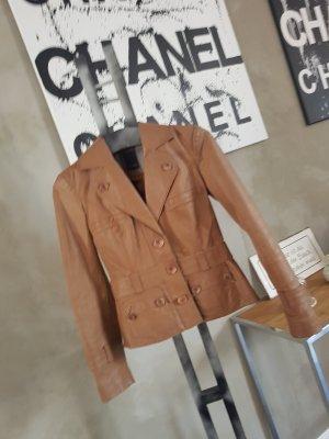 Vero Moda Leder Jacke Gr S Cognac
