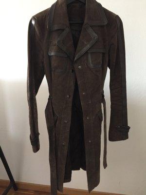 Vero Moda Leder Jacke Mantel Gr. 36 - S