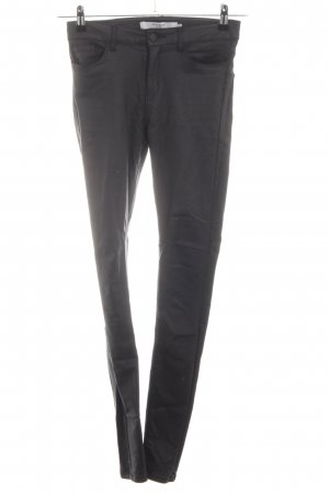 Vero Moda Pantalón de cuero gris claro look casual