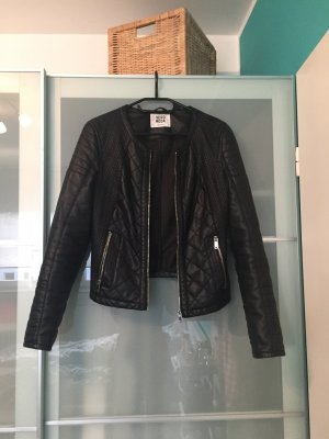 Vero Moda Lederjacke Bikerjacke schwarz