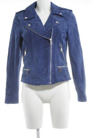 Vero Moda Lederjacke blau Street-Fashion-Look