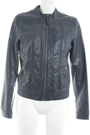 Vero Moda Lederjacke dunkelblau klassischer Stil