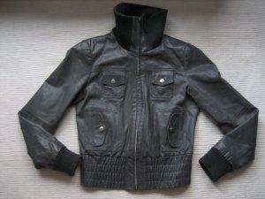 vero moda lederjacke grau bikerjacke neuwertig gr. s 36