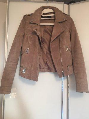 Vero Moda Faux Leather Jacket grey brown