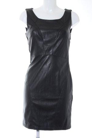 Vero Moda Leren jurk zwart feest stijl