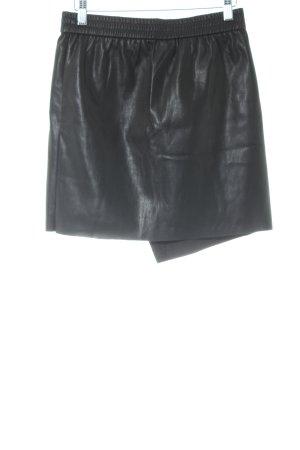Vero Moda Leather Skirt black biker look