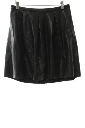 Vero Moda Leather Skirt black party style