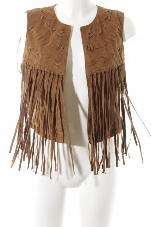 Vero Moda Leather Vest light brown Boho look