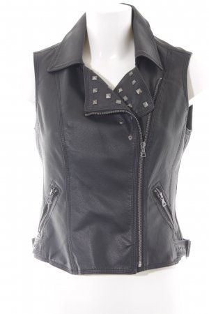 Vero Moda Leather Vest black gothic look