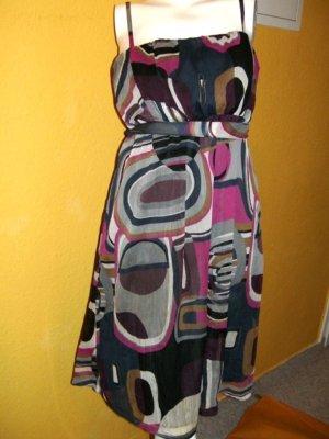 Vero Moda, leichte schicke Chiffon Kleid, Lila Schwarz, Gr. S 36/38
