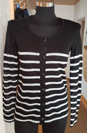 Vero Moda Leichter Cardigan Strickjacke gestreift schwarz-weiß S