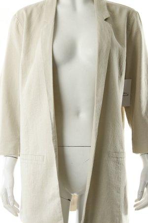 Vero Moda Long-Blazer creme schlichter Stil