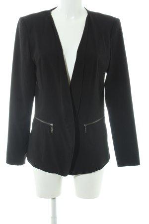 Vero Moda Lange blazer zwart zakelijke stijl