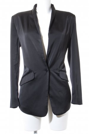 Vero Moda Long-Blazer schwarz Glanz-Optik