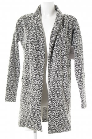 Vero Moda Long-Blazer schwarz-weiß abstraktes Muster Casual-Look
