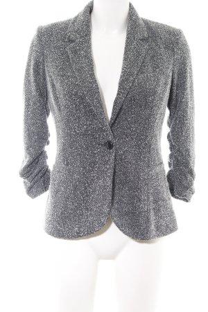 Vero Moda Long-Blazer schwarz-weiß meliert Business-Look