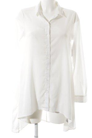 Vero Moda Long-Bluse weiß Elegant