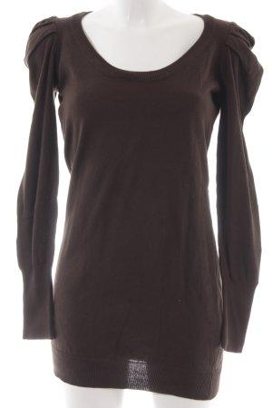 Vero Moda Long Sweater dark brown casual look