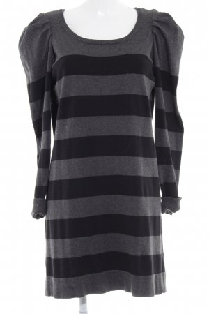 Vero Moda Long Sweater dark grey-black striped pattern