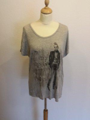 ★ Vero Moda Longshirt mit Aufdruck grau ★