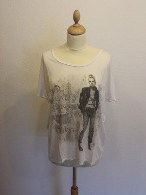 ★ Vero Moda Longshirt mit Aufdruck weiss ★