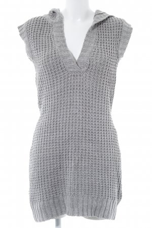 Vero Moda Long Knitted Vest grey loosely knitted pattern casual look