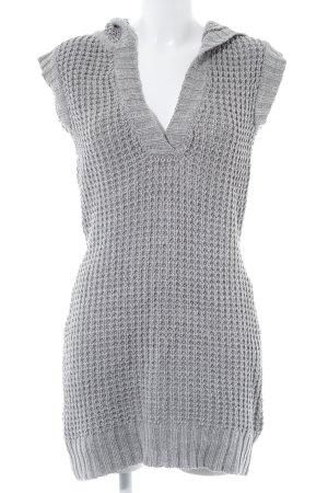 Vero Moda Gilet long tricoté gris motif tricoté lâche style décontracté