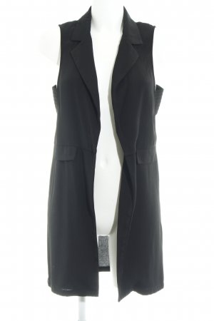Vero Moda Long Knitted Vest black Brit look