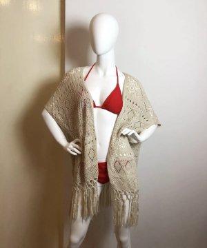 Vero Moda M Cardigan Kimono Strickjacke Fransen Fringe