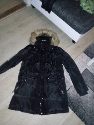 Vero Moda Hooded Coat black polyester