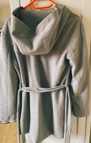 Vero Moda Abrigo con capucha gris claro