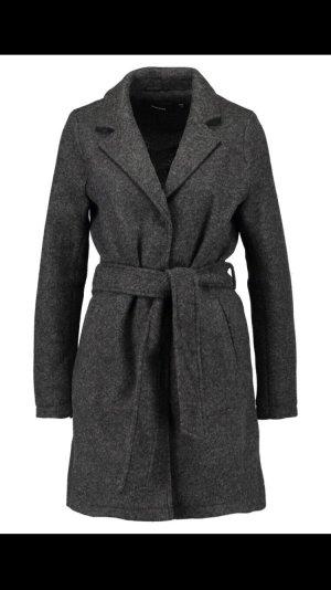 Vero Moda Manteau en laine gris foncé