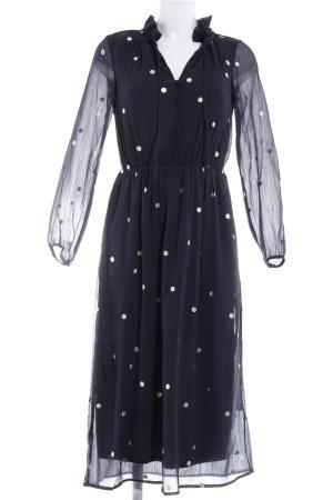 Vero Moda Maxikleid goldfarben-dunkelblau Punktemuster Street-Fashion-Look