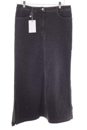 Vero Moda Maxirock grau-dunkelblau Jeans-Optik