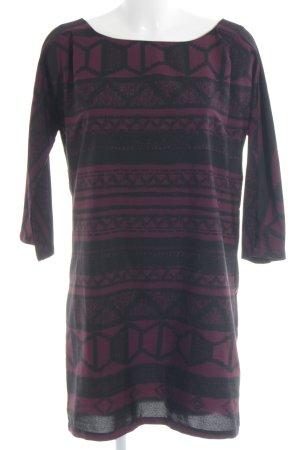 Vero Moda Midikleid braunrot-schwarz abstraktes Muster Casual-Look