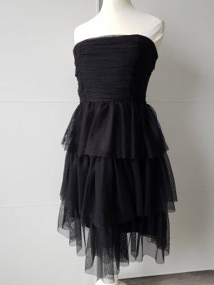 VERO MODA Mini-Kleid, Chiffon, Gr.XS, schwarz